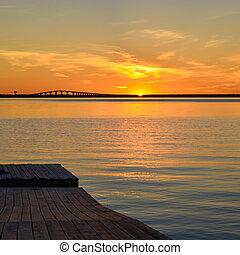 Sunset at bridge
