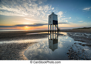 Sunset at Burnham on Sea