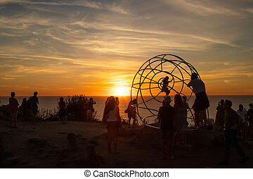 sunset at cabo home, pontevedra, galicia, spain