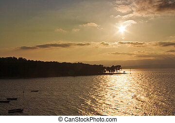 Sunset at Cortegada Island