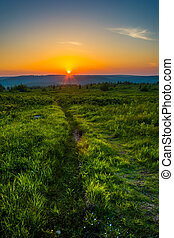 Sunset at Dolly Sods Wilderness, Monongahela National Forest...