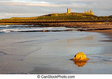 Sunset at Dunstanburgh Castle
