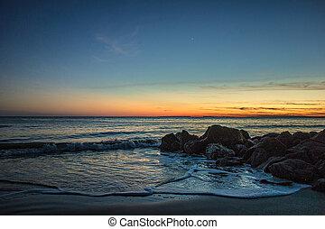 sunset at edisto beach north carolina