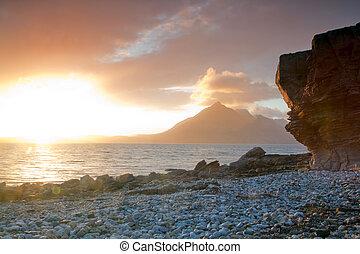 Sunset at Elgol Isle of Skye Highland Scotland - Beautiful...