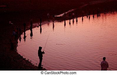 Sunset at Fishing Hole