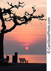 sunset at garda lake
