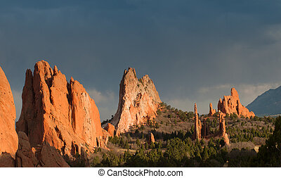 Garden of the Gods - Sunset at Garden of the Gods Rock...