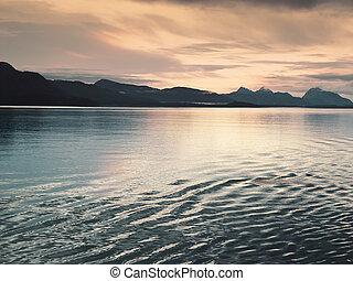 Sunset at Glacier Bay, Alaska
