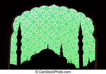 sunset at halga sophia blue mosque turkey - green tone halga...