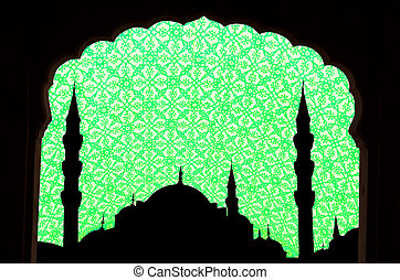 sunset at halga sophia blue mosque turkey - green tone halga...