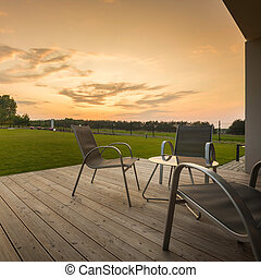 Sunset at home patio