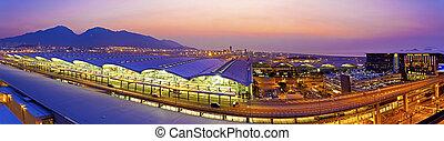 Sunset at Hong Kong airport