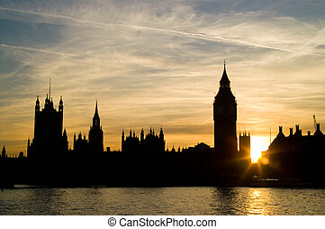 Sunset at houses of Parliament