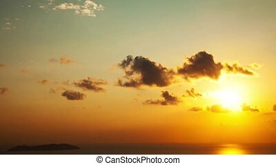 sunset at island