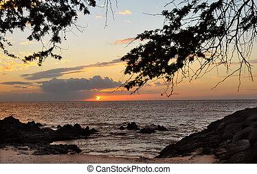 Sunset at Kihei Marina Maui Hawaii