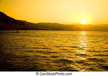 Sunset at Lake Chelan