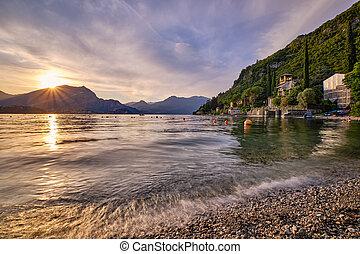 Sunset at Lake Como from Lierna
