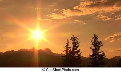 Sunset at Minaret Vista, time lapse