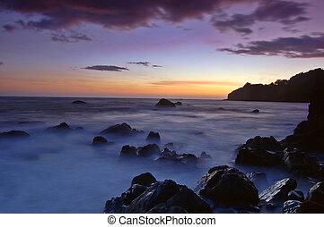 Sunset at Muir Beach, Marin County, California