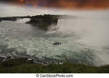 Sunset at Niagara Falls, Canada