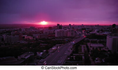 Sunset at Novosibirsk, Russia