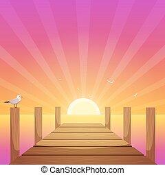 Sunset At Pier