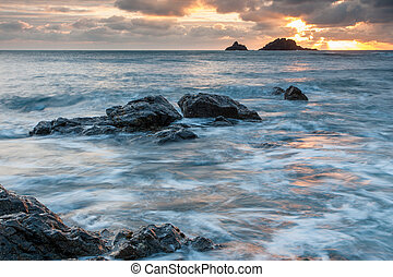 Priests Cove Cape Cornwall - Sunset at Priests Cove Cape...