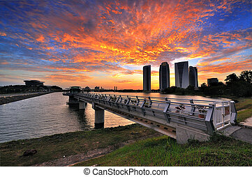 Sunset at Putrajaya Dam
