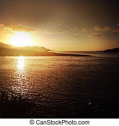 Sunset at Raglan, New Zealand