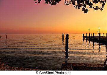 Sunset at Riva del Garda