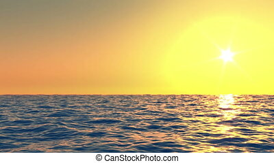 Sunset at sea time lapse