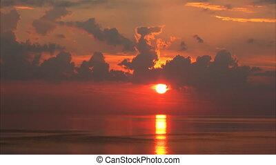 sunset at Sea, timelapse