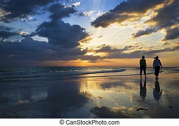 Sunset at Siesta Key Beach, Florida