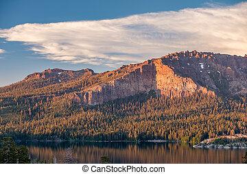 Sunset at Silver Lake, California - Sunset at Silver Lake -...