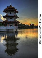 Sunset at Singapore Chinese Garden 2