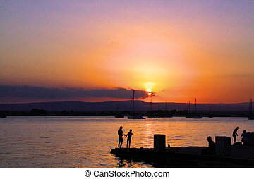 Sunset at Siracusa