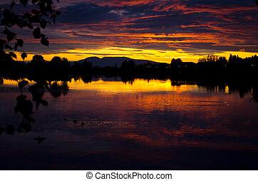 Sunset at Sleeping Lady mountain