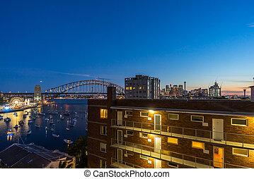 Sunset at Sydney Harbor Bridge