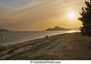 Sunset at Tambo island