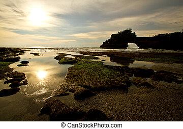 sunset at tanah lot Bali