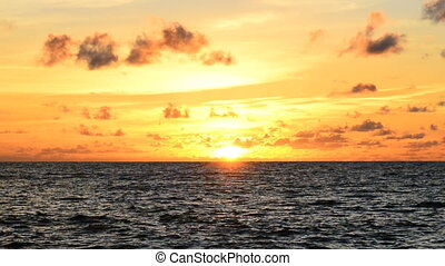 sunset at the beach in eveningsunse