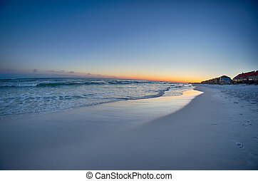 sunset at the beach in florida