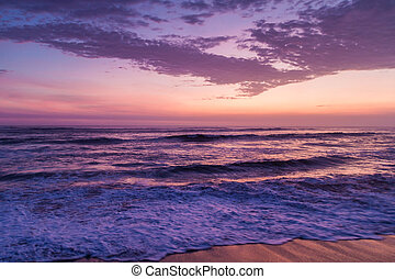 Sunset at the beach in Huanchaco