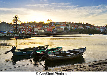 Sunset at the fishing port