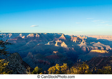 Sunset at the Grand Canyon in Arizona