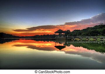 Sunset at the Lake 2
