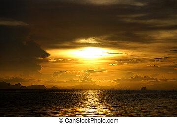 Sunset at the lake.