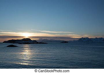 Sunset at the Lofoten, Norway