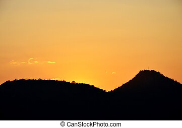sunset at the mountain