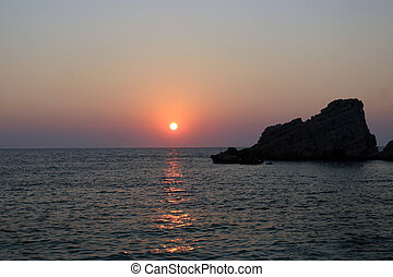 Sunset at the Petani Beach
